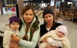 Натуся, Катя, Я, Алиса в аэропорту